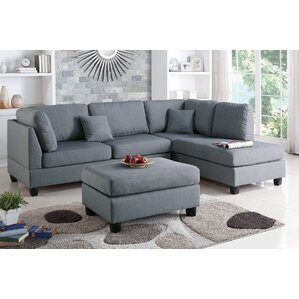 Hemphill Reversible Sectional  sc 1 st  Wayfair : charcoal sectional with chaise - Sectionals, Sofas & Couches