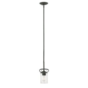 Carlyle 1-Light Cylindrical Shade Mini Pendant