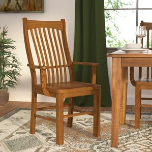 Corwin Slatback Solid Wood Dining Chair (Set of 2) by Loon Peak