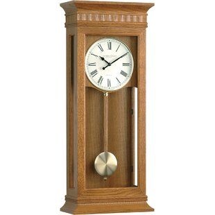 Light oak wall clock wayfair oak pendulum wall clock aloadofball Choice Image