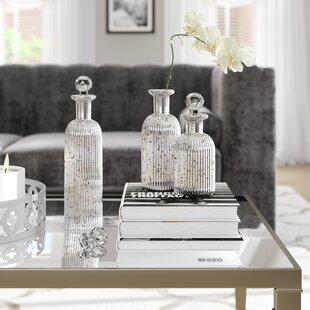 3 Piece Decorative Bottle Set & Decorative Pieces For Kitchen   Wayfair