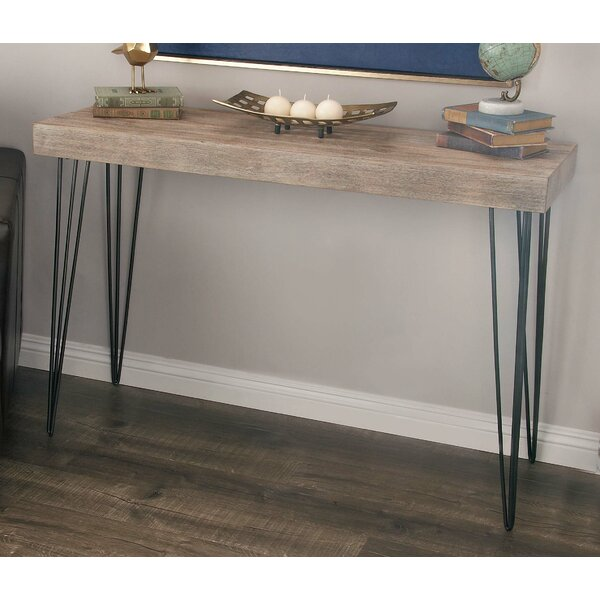 Cole U0026 Grey Metal/Wood Console Table U0026 Reviews | Wayfair