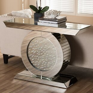 Spicer Hollywood Regency Glamour Style Mirrored Console Table