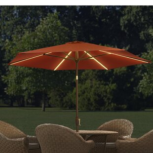 9u0027 Lighted Umbrella