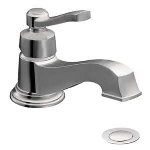 Rothbury Single Handle Single Hole Low Arc Bathroom Faucet With Drain