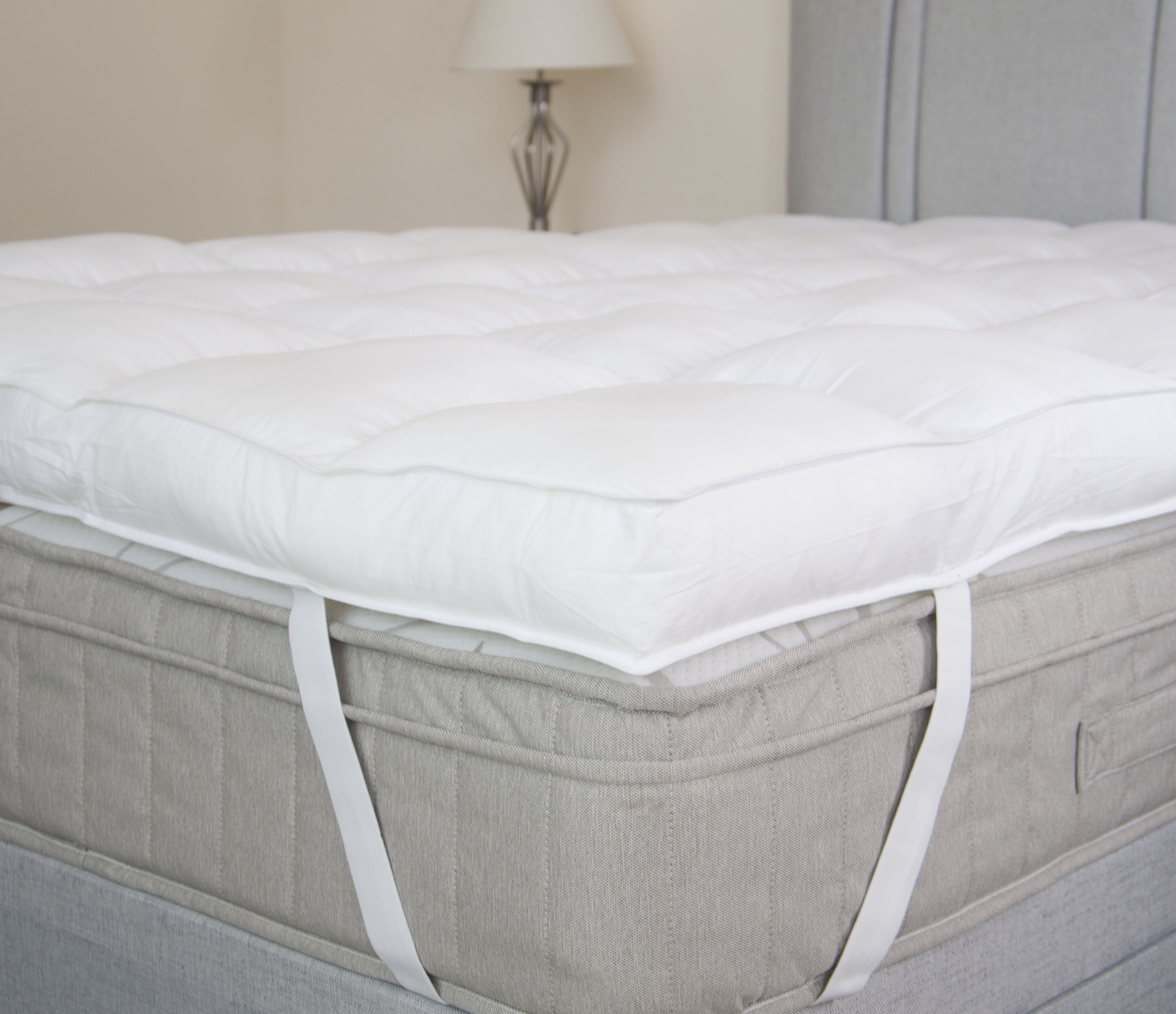 shipping bath product bedding gel fiber solutions and foam inch slumber mattress topper today overstock free memory