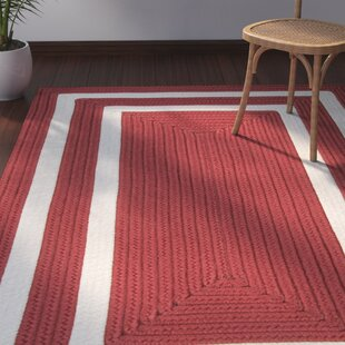 Marti Hand-Woven Outdoor Red Area Rug ByBay Isle Home