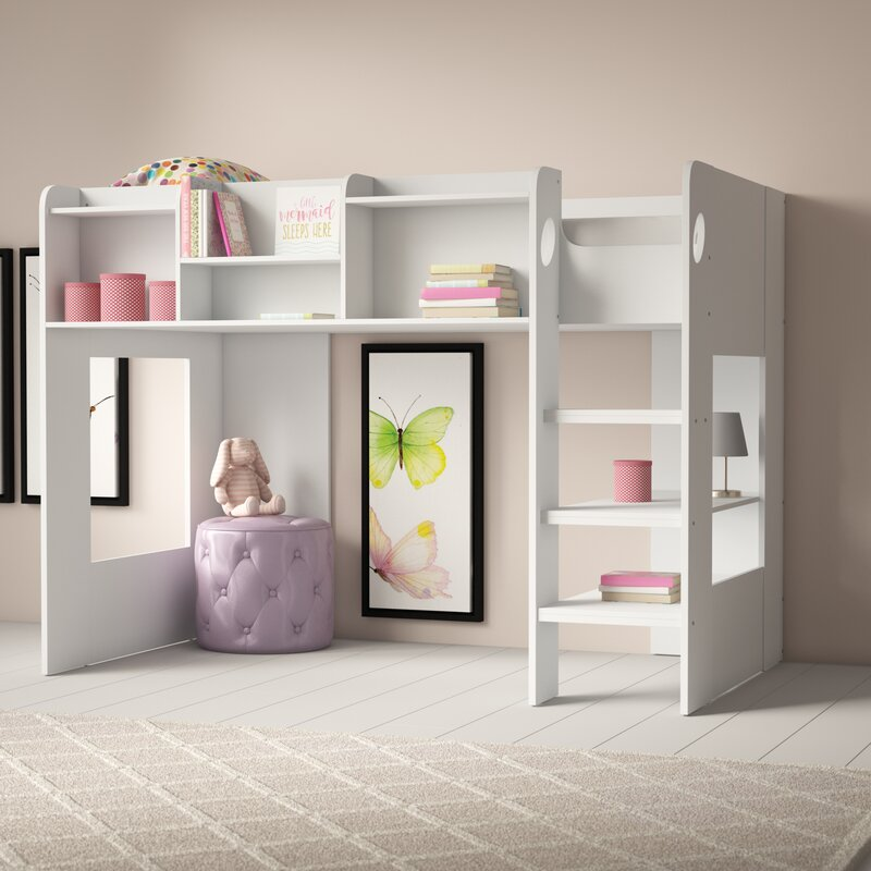Home Loft Concept Wizard L Shape Bunk Bed With Shelf Wayfair Co Uk