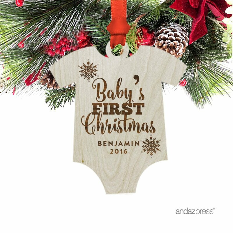 the holiday aisle baby s first christmas shaped ornament with gift