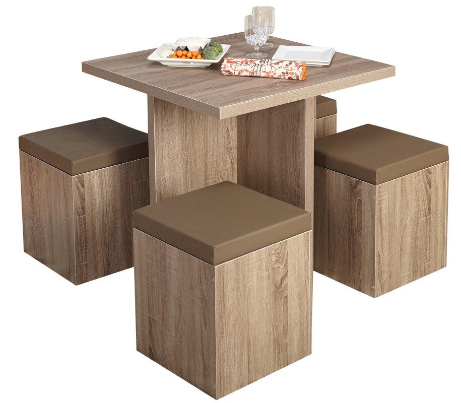 5 Piece Dining Sets mercury row osgood 5 piece dining set & reviews | wayfair