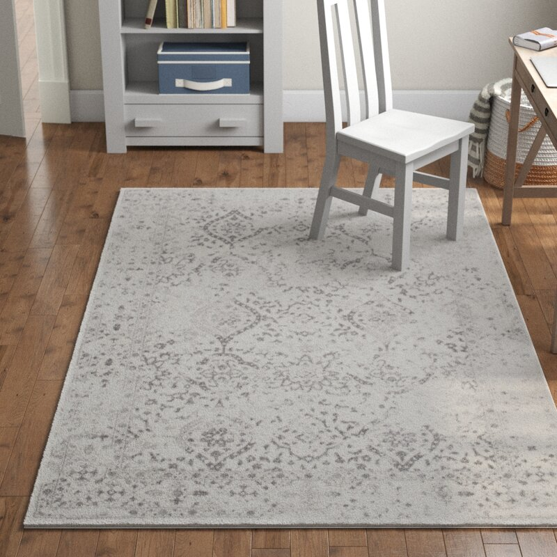 Laurel Foundry Modern Farmhouse Youati Ivory Gray Area Rug