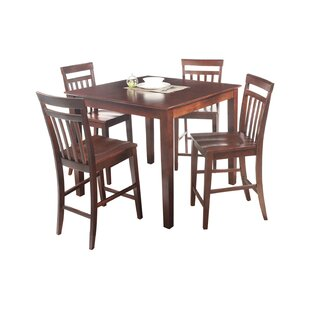 Foxfield 5 Piece Counter Height Solid Wood Dining Set