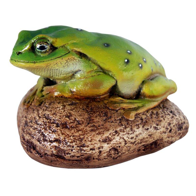 Toad on Rock Figurine