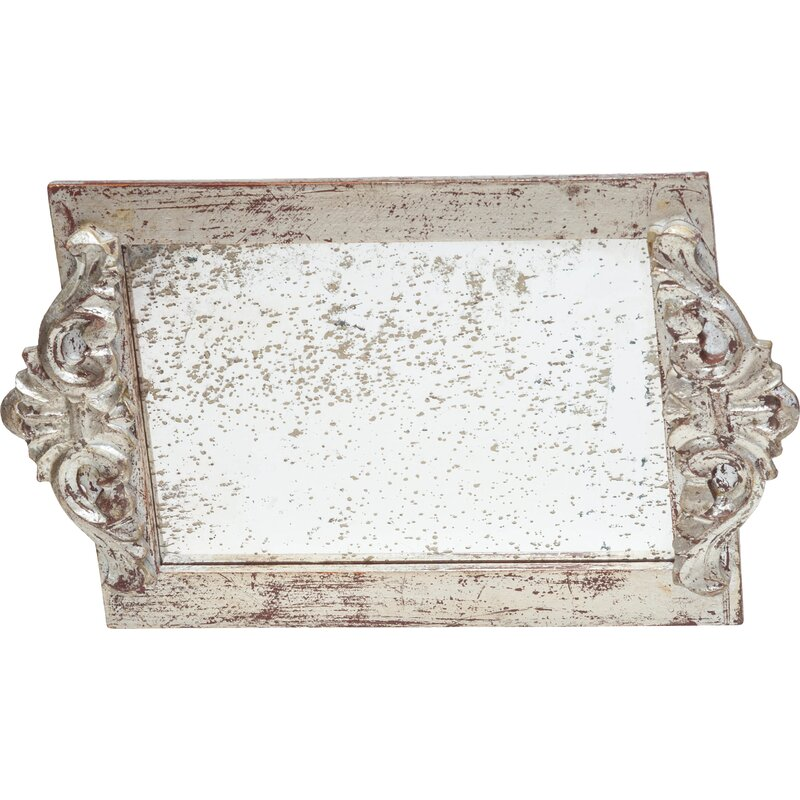 Abigails Vanity Tray with Faux Antique Mirror Surface & Reviews | Wayfair - Abigails Vanity Tray With Faux Antique Mirror Surface & Reviews