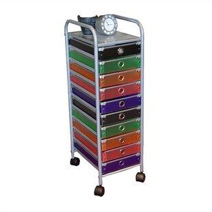 Cass 10 Drawer Storage Chest  sc 1 st  Wayfair & 10 Drawer Storage Cart | Wayfair