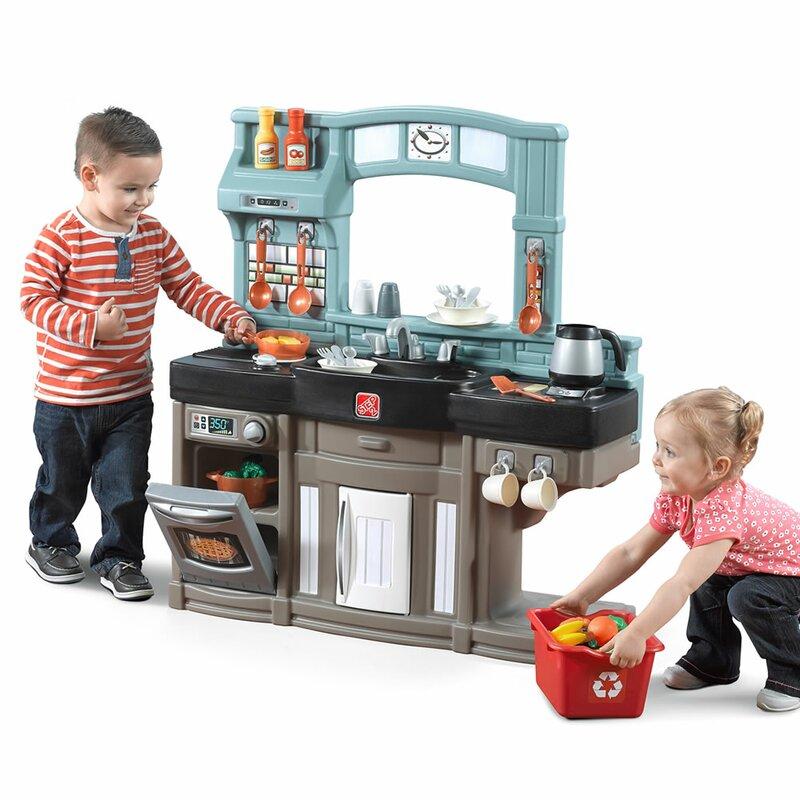 Plastic Play Kitchen Step 2 step2 best chef's kitchen set & reviews | wayfair