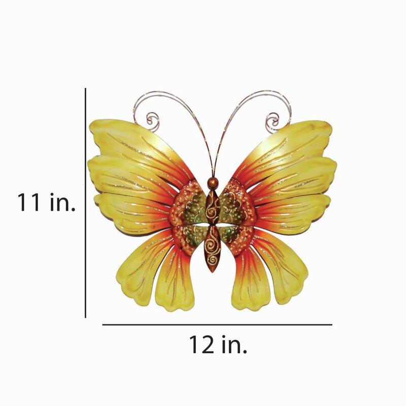 Eangee Home Design Sunflower Butterfly Wall Décor & Reviews   Wayfair