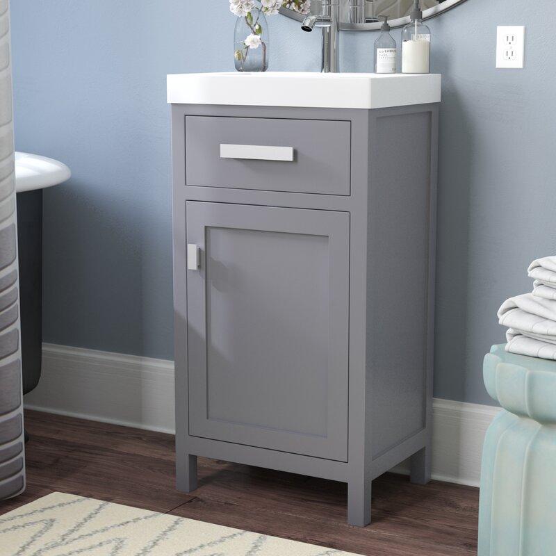 """Zipcode Design Knighten 17.3"""" Single Bathroom Vanity Set ..."""