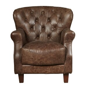 Chief Leather Club Chair by Highway To Home