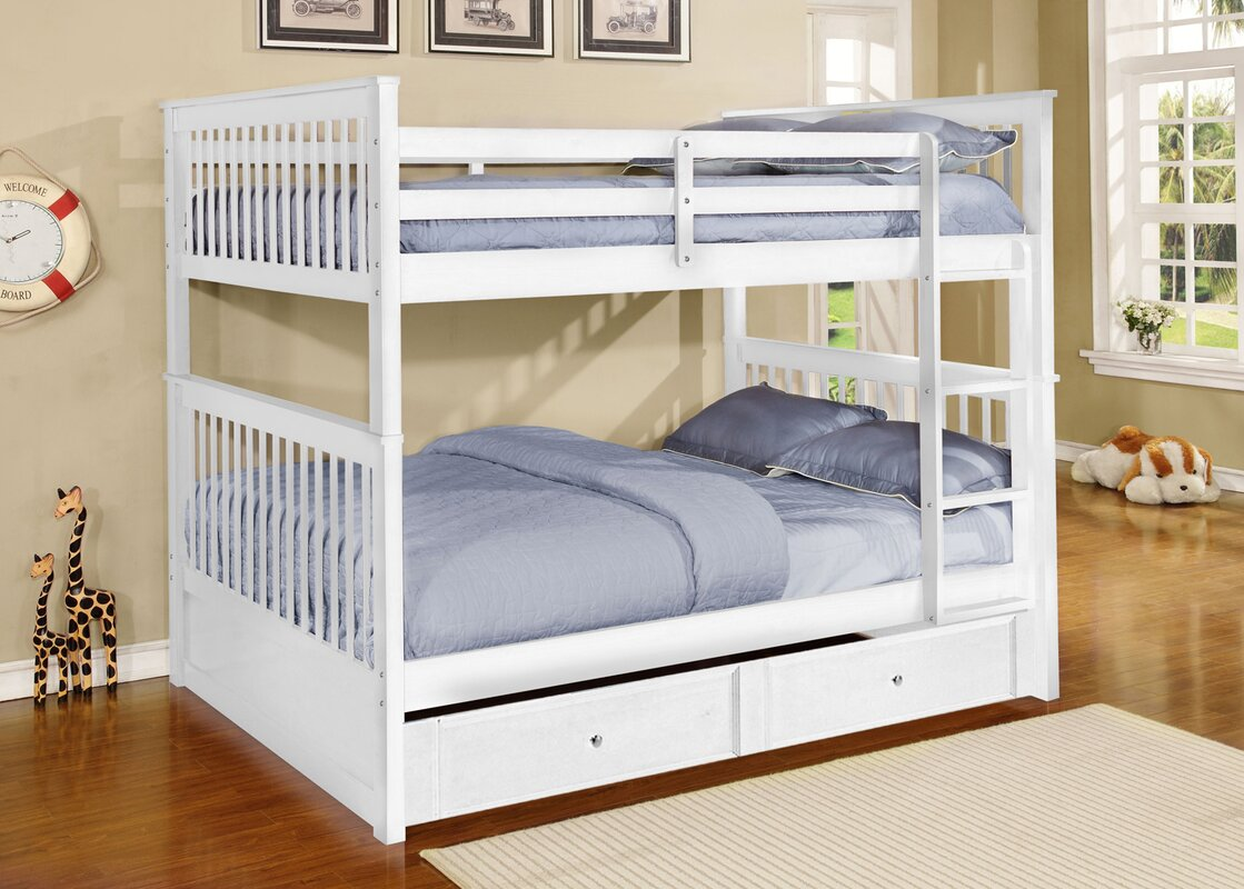 Harriet Bee Vicky Full Over Full Bunk Bed with Trundle Reviews