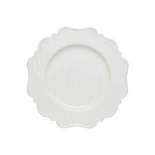 Pinpoint White Dinner Plate (Set of 4)  sc 1 st  Wayfair & Square White Plate Set | Wayfair