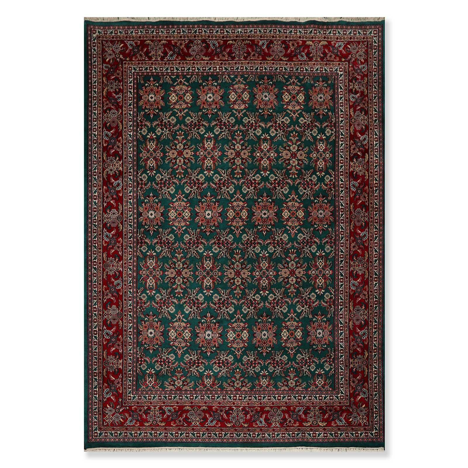World menagerie one of a kind margret hand knotted 88 x 126 wool burgundy area rug wayfair