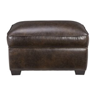 Andersonville Leather Ottoman by Foundry Sel..