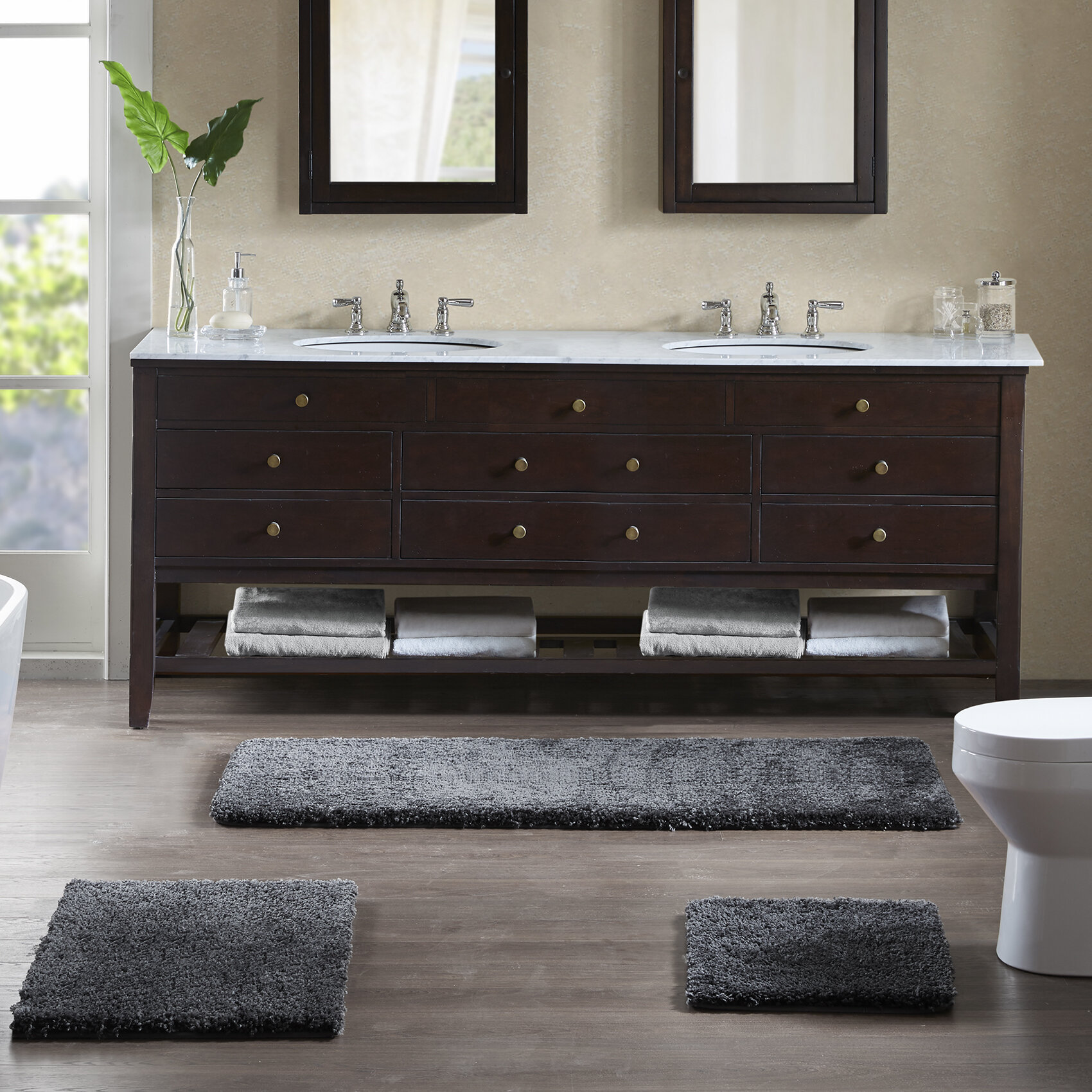 a6c71312d4f8 Madison Park Signature Grande Solid Tufted Bath Rug   Reviews