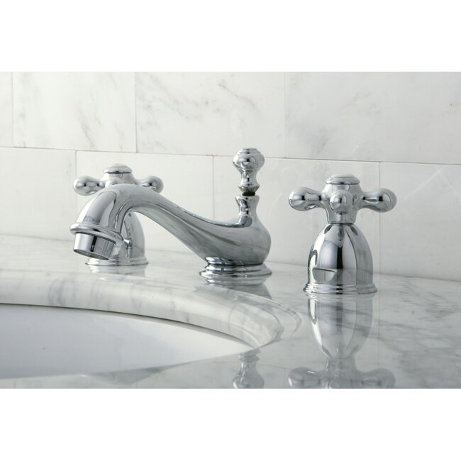 restoration double handle mini widespread bathroom sink faucet with brass popup