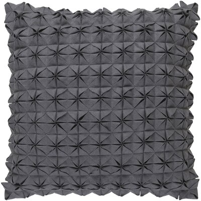 Brayden Studio Ebro Structure 100% Wool Throw Pillow Cover Size: 20 H x 20 W x 1 D, Color: Medium Gray