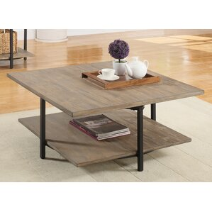 Deaton Square Coffee Table with Magazine Rack by Mercury Row
