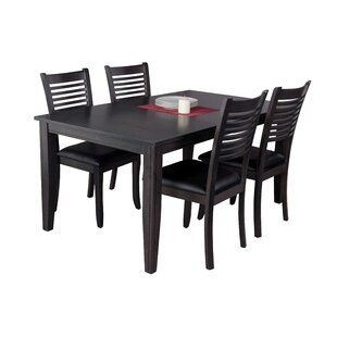 Haan Traditional 5 Piece Solid Wood Dining Set