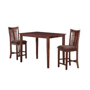 Flossmoor 3 Piece Solid Wood Dining Set