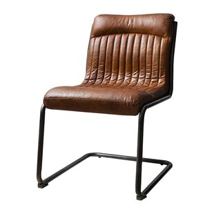 Capri Genuine Leather Upholstered Dining Chair ...
