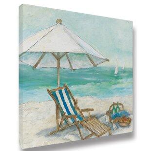 u0027Beach Chair u0026 Umbrella 01u0027 Acrylic Painting Print on Wrapped Canvas  sc 1 st  Wayfair & Beach Chair And Umbrella | Wayfair