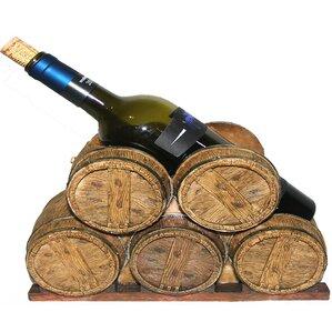 Polyresin Five Barrel 1 Bottle Tabletop Wine Bottle Rack by ESSENTIAL D?COR & BEYOND, INC