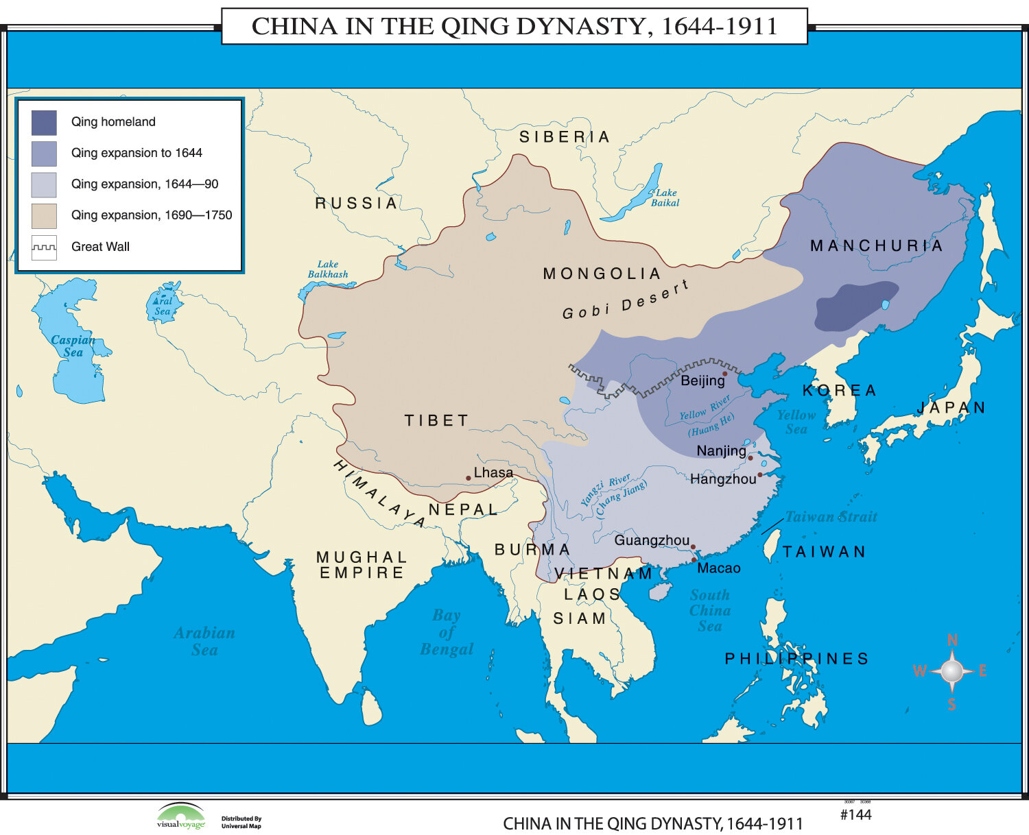Universal Map World History Wall Maps China In Qing Dynasty Wayfair