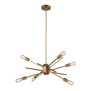 Modern contemporary sputnik ceiling light allmodern byler 6 light metal sputnik chandelier mozeypictures Image collections