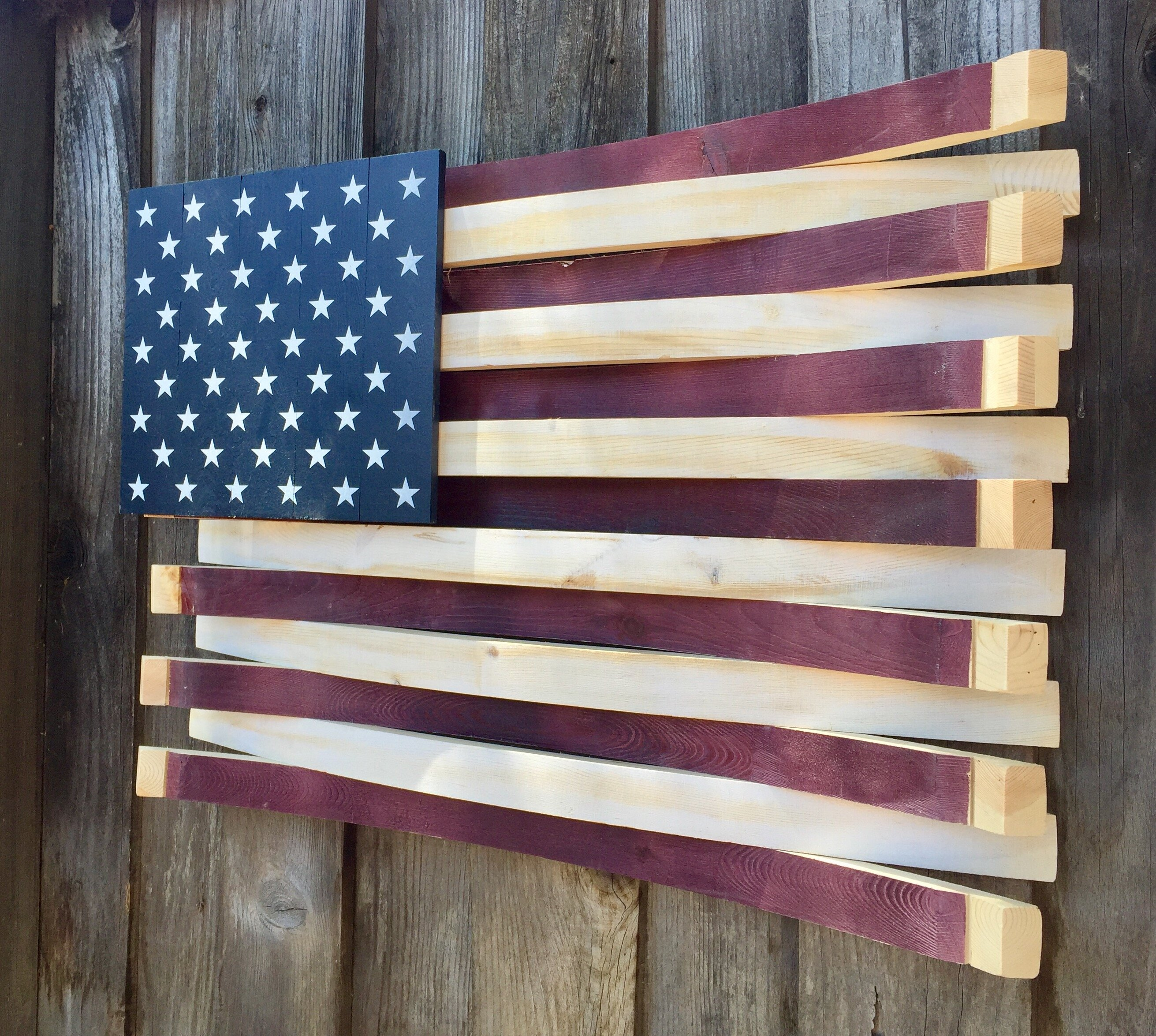 064ba5af85d0 Martellas Wine Barrel American Flag Wall Décor