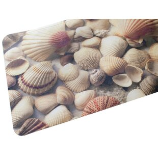 Seashells Fabric Printed Bath Mat