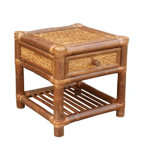 Bamboo Wood  End Table by ZEW ..