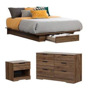walnut bedroom set. Holland Queen Storage Platform Configurable Bedroom Set Walnut Sets You ll Love  Wayfair