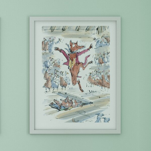 Dom I Meble Fantastic Mr Fox Print Watercolor Picture Wall Art Framed Canvas Gift Nursery Makaty