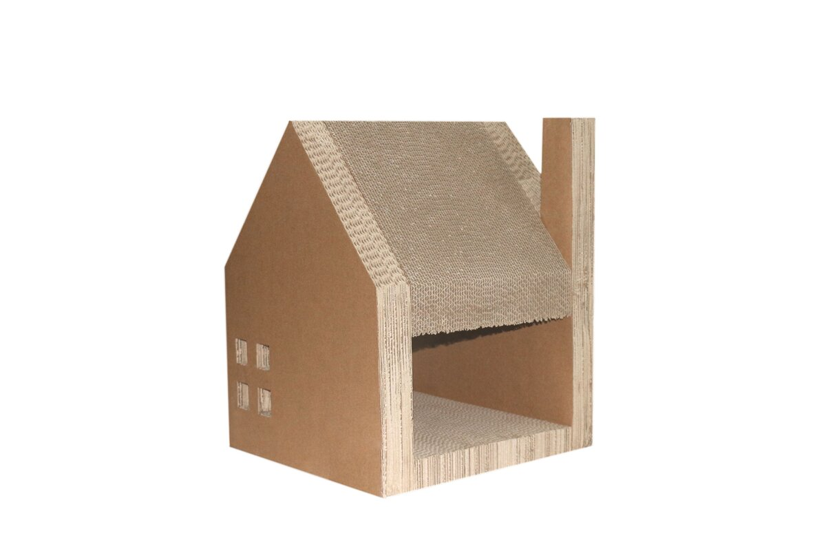 Corrugated Cardboard Furniture Purrrfect Life Corrugated Cardboard Cat House Wayfair