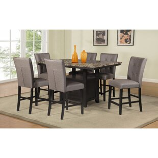Patty 7 Piece Counter Height Dining Set