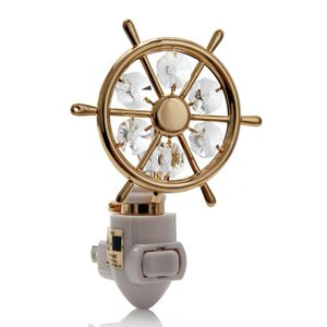 24K Gold Plated Captains Wheel Night Light