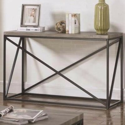 Williston Forge Alleman Industrial Minimal Console Table