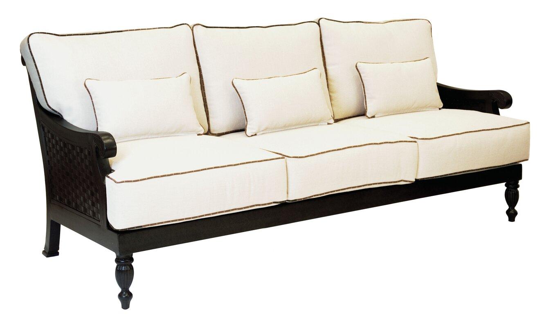 Pride family brands jakarta patio sofa with cushions for Sofa jakarta