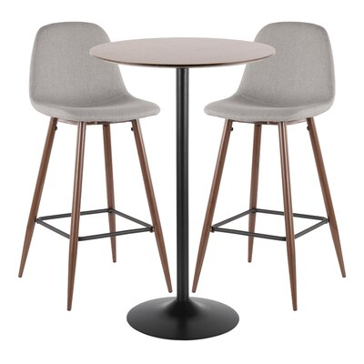 Latitude Run Blaisdell 3 Piece Pub Table Set
