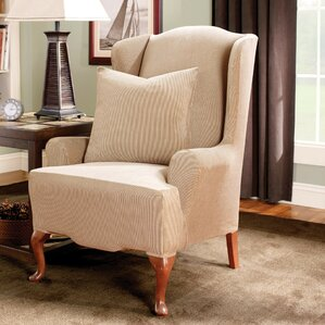 Stretch Stripe T-Cushion Wingback Slip..